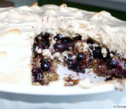 Blueberry Meringue Crisp