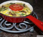 Garbage Frittata for One