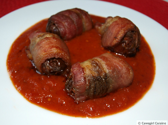 Bacon-Wrapped Chorizo-Stuffed Dates