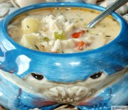 Crab, Bacon, and Parsnip Chowder