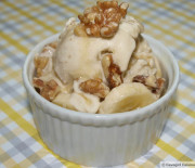 Banana-Walnut Ice Cream w/ Maple Drizzle