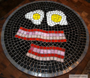 GIVEAWAY ~ Bacon & Eggs Mosaic Trivet