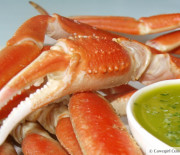 Boiled Crab Legs w/ Parsley Lemon Butter