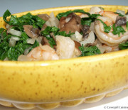 Shrimp & Creamed Collards