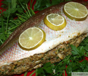 Crab-Stuffed Yellowtail Snapper (Whole Fish)