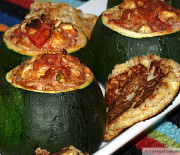Spicy Stuffed Eight-Ball Zucchini & Patties