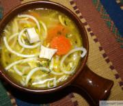"""Chicken Noodle Soup (paleo """"pasta"""")"""