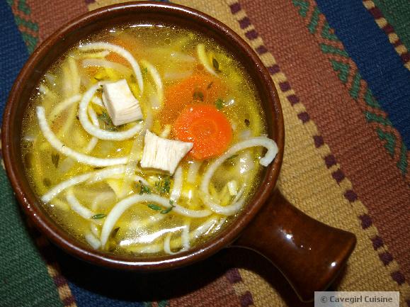 Chicken Noodle Soup (paleo pasta)