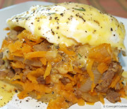 Sausage and Sweet Potato Hash Benedict