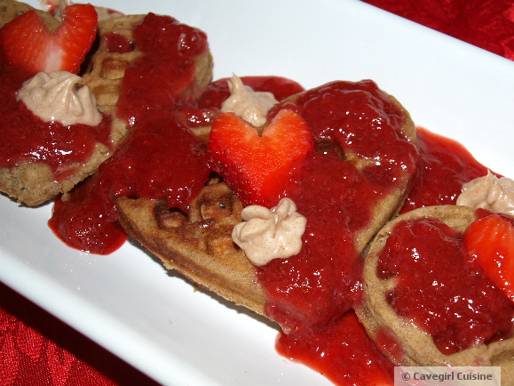 Waffles with Strawberry Compote