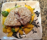 Pumpkin Encrusted Swordfish with Mango Salad ~ Entry #7