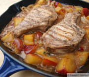 Plum Drunk Pork Chops