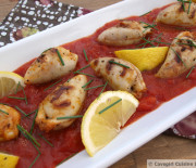Chorizo and Crab Stuffed Calamari