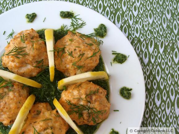 Salmon Meatballs with Pesto