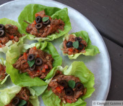 Italian Beef Tongue Lettuce Cups