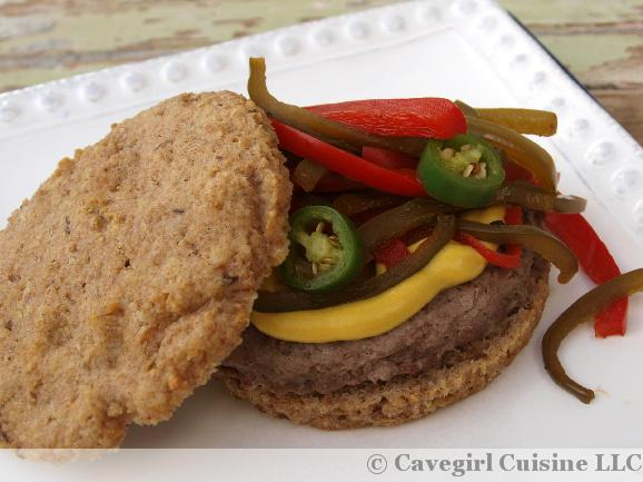 Llama Burgers with Pickled Peppers