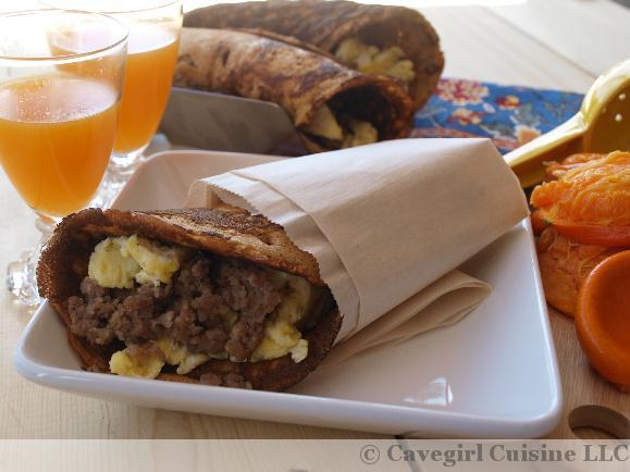 Breakfast Pancake Burrito
