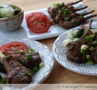 Asian Lamb Chops with Steamed Bok Choy