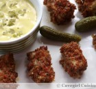 Bacon Breaded Fish Nuggets with Tartar Sauce