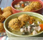 Chicken Stew and Sweet Potato Dumplings