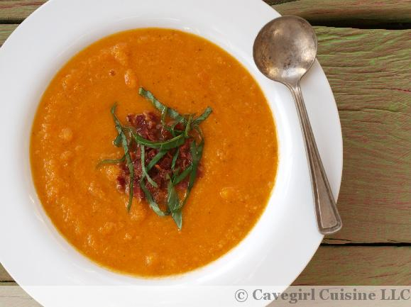Creamy Roasted Tomato and Carrot Soup