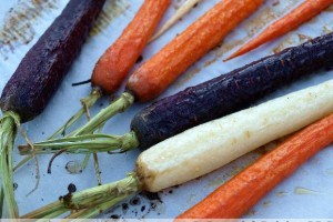 Roasted Rainbow Carrots
