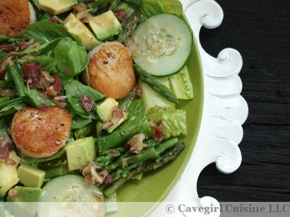 ... with Scallops & a Bacon-Horseradish Vinaigrette | Cavegirl Cuisine
