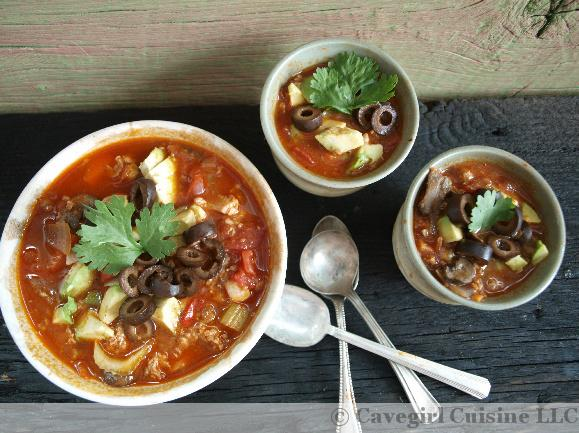 Chorizo-Chicken Chiloup (paleo chili)