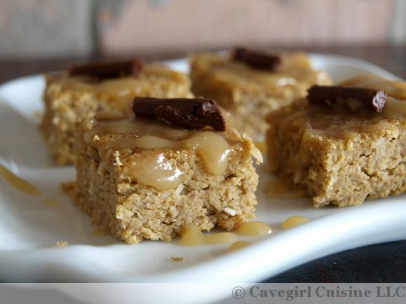 Pumpkin Bars with Caramel Drizzle