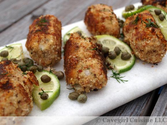 Prosciutto Breaded Salmon Croquettes