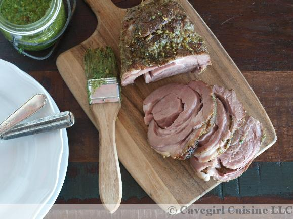 SousVide Lamb Shoulder with Hazelnut-Mint Pesto