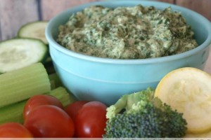 Creamy Artichoke Dip with Spinach (Nourish Cookbook)