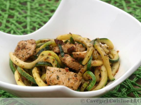 Chicken Pesto Zucchini