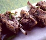 Pistachio-Mint Pesto Lamb Riblets