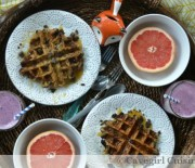 Chocolate Chip Zucchini Bread Waffles