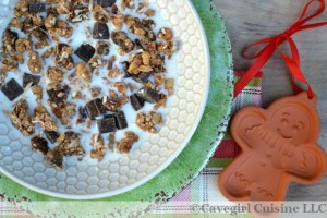 Holiday Paleo Gingerbread Cereal