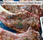 Lamb Rib Chops with Prickly Pear Glaze