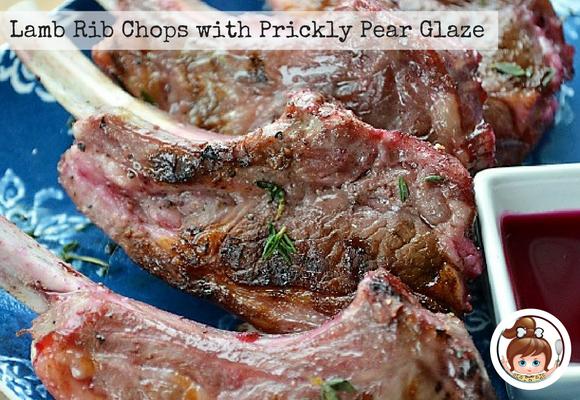 Lamb Rib Chops with Prickly Pear Glaze #cavegirlcuisine