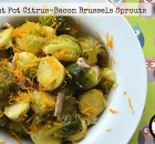 Instant Pot Citrus-Bacon Brussels Sprouts