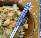 Paleo Shrimp Egg Roll Bowl