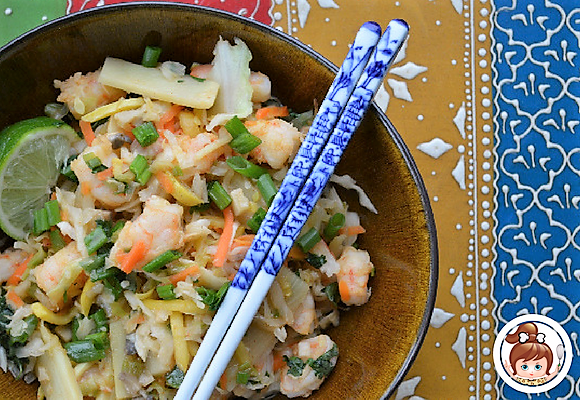 Paleo Shrimp Egg Roll Bowl #cavegirlcuisine #asianpaleo