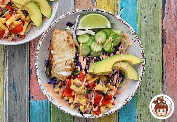 Fish Taco Bowl #paleo #cavegirlcuisine