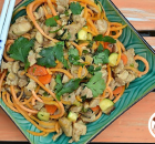 Thai Chicken Noodles (with zoodled sweet potatoes)