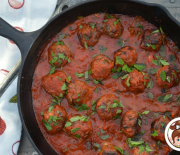Bison Meatballs with Dates and Blue Cheese